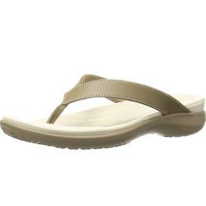 Crocs Capri V Leather Thong Sandal
